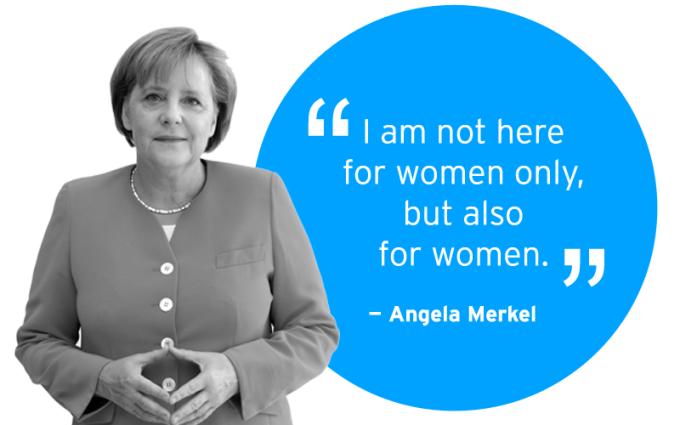 German Chancellor Angela Merkel on women