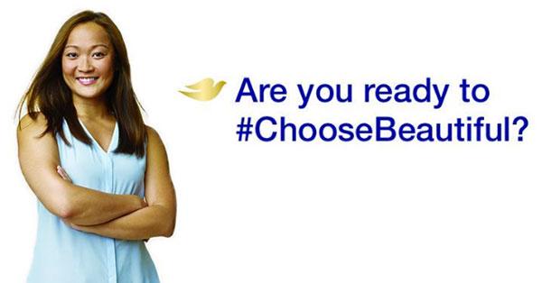 Dove #choosebeautiful campaign