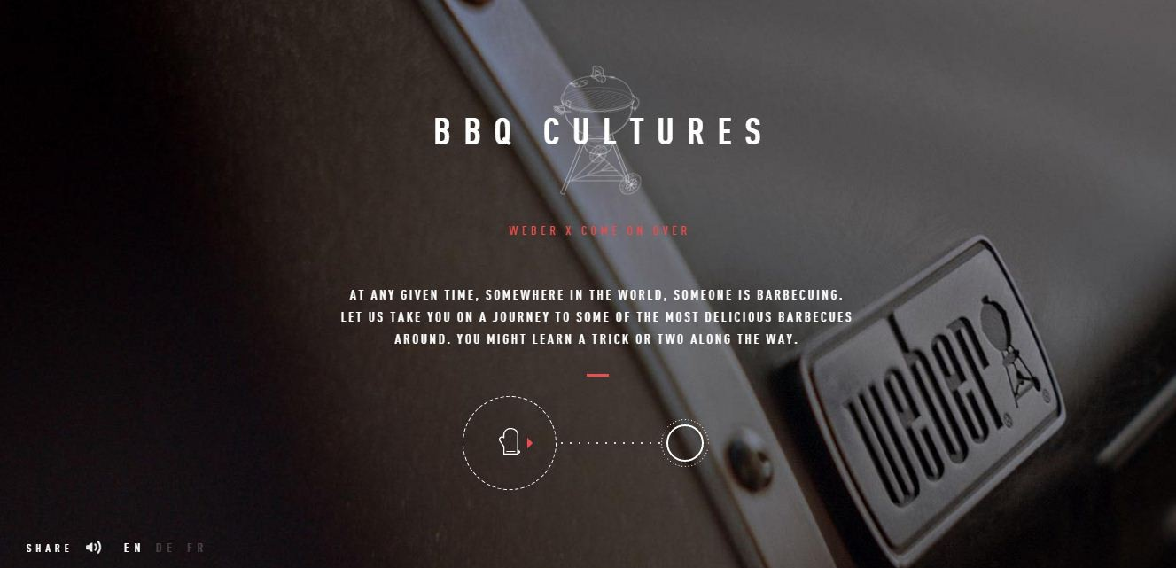 Weber BBQ Cultures Immersive multisensory Homepage